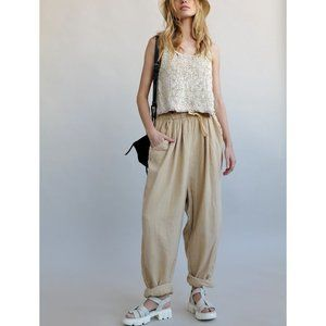 NWT Free People Essential Doublecloth Pant / Mustard